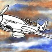 P-40 Warhawk 1 Poster by Scott Nelson