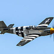 P-51 Mustang Fighter Poster by Puget  Exposure