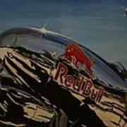 P38 Red Bull Lightning Warbird Poster