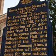 Pa-132 Tomas Garrigue Masaryk 1850-1937 Poster