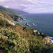 Pacific Coastline At Big Sur Poster by George Oze