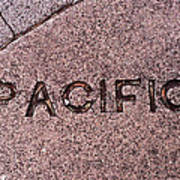 Pacific Concrete Street Sign Poster
