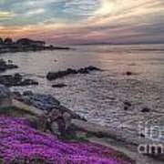 Sunset In Pacific Grove Poster