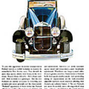 Packard Automobile - Vintage Poster Poster