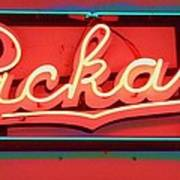 Packard Sign Aglow Poster