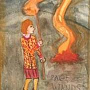 Page Of Wands Poster