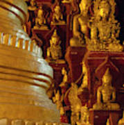 Pagoda And Buddhist Statues Poster