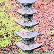 Pagoda In Autumn Poster
