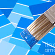 Paint Brush - Blue Poster