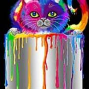 Paint Can Cat Poster