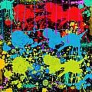 Paint Splatter - Black Poster