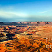 Painted Canyonland Poster