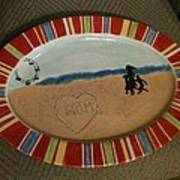 Painted Dish Poster