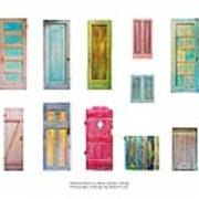 Painted Doors And Window Panes Poster