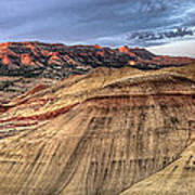 Painted Hills In Oregon Panorama Poster