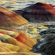 Painted Hills, Sunset, John Day Fossil Poster