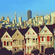 Alamo Square San Francisco - Digital Art Poster