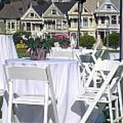 Painted Ladies Houses. Poster