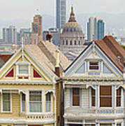 Painted Ladies Row Houses By Alamo Square Poster
