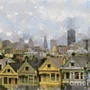 Painted Ladies - San Francisco Poster
