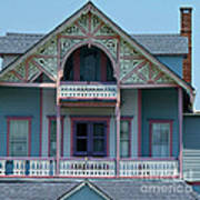 Painted Lady In Ocean Grove Nj Poster by Anna Lisa Yoder