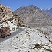 Painted Truck On The Karakorum Highway In Pakistan Poster by Robert Preston