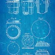 Painter Bottle Cap Patent Art 1892 Blueprint Poster by Ian Monk