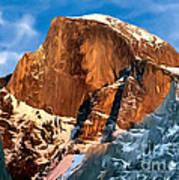 Painting Half Dome Yosemite N P Poster
