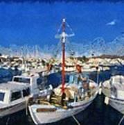 Aegina Port Poster