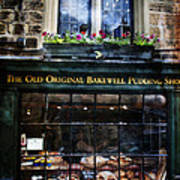 Can You See The Ghost In The Top Window At The Old Original Bakewell Pudding Shop Poster