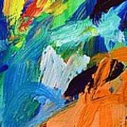 And God Said Let There Be Light - Genesis1 3 - Blue Abstract Expressionist Painting Poster