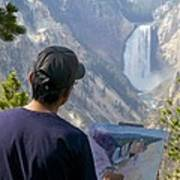 Painting Waterfall Poster