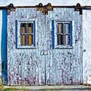 Painty Flakey Garage Doors Poster