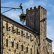 Palazzo Pretorio And The Tower Of Little Pig Poster