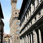 Palazzo Vecchio And Uffizien Poster
