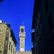 Palazzo Vecchio Clock Tower Poster