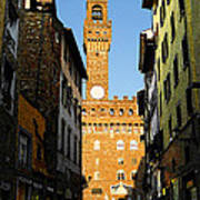 Palazzo Vecchio In Florence Italy Poster
