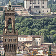 Palazzo Vecchio Tower And Forte Belvedere Poster