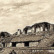 Palenque Panorama Sepia Poster