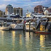Palm Beach Marina Poster