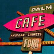 Palm Cafe Poster by Gail Lawnicki