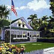 Palm Cottage Naples Florida Poster