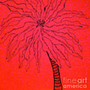 Palm Red Poster