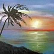 Palm Sunset Poster