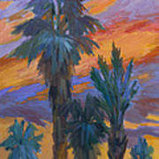 Palms And Sunset Poster