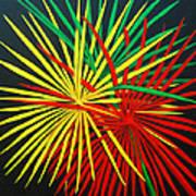 Palms Bursting Poster by Roseann Gilmore