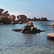 Palombaggia Beach And Rocks, Corsica Poster