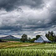 Palouse Farm And Steptoe Butte Poster