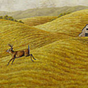 Palouse Farm Whitetail Deer Poster by Crista Forest