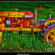 Palouse Tractor Poster